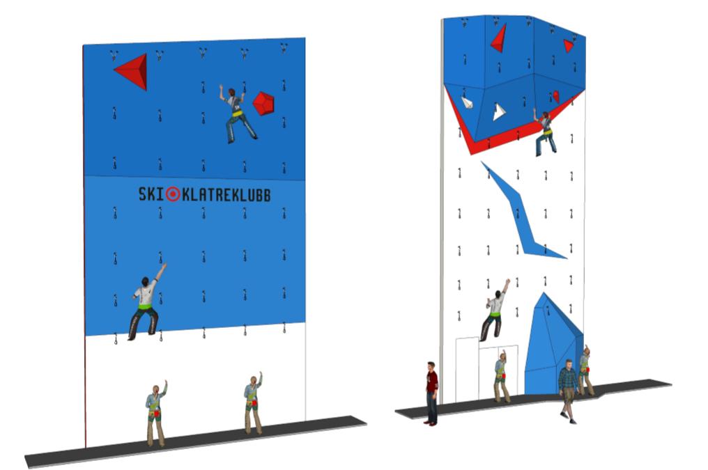 Siste nytt om de nye klatreveggene